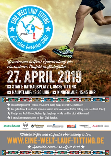 Eine Welt Lauf in Titting am 27. April 2019