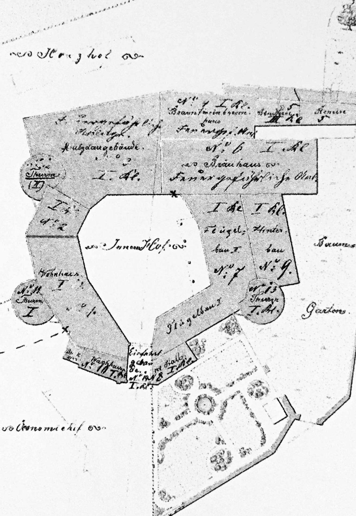 Bauplan Tittinger Wasserschloss