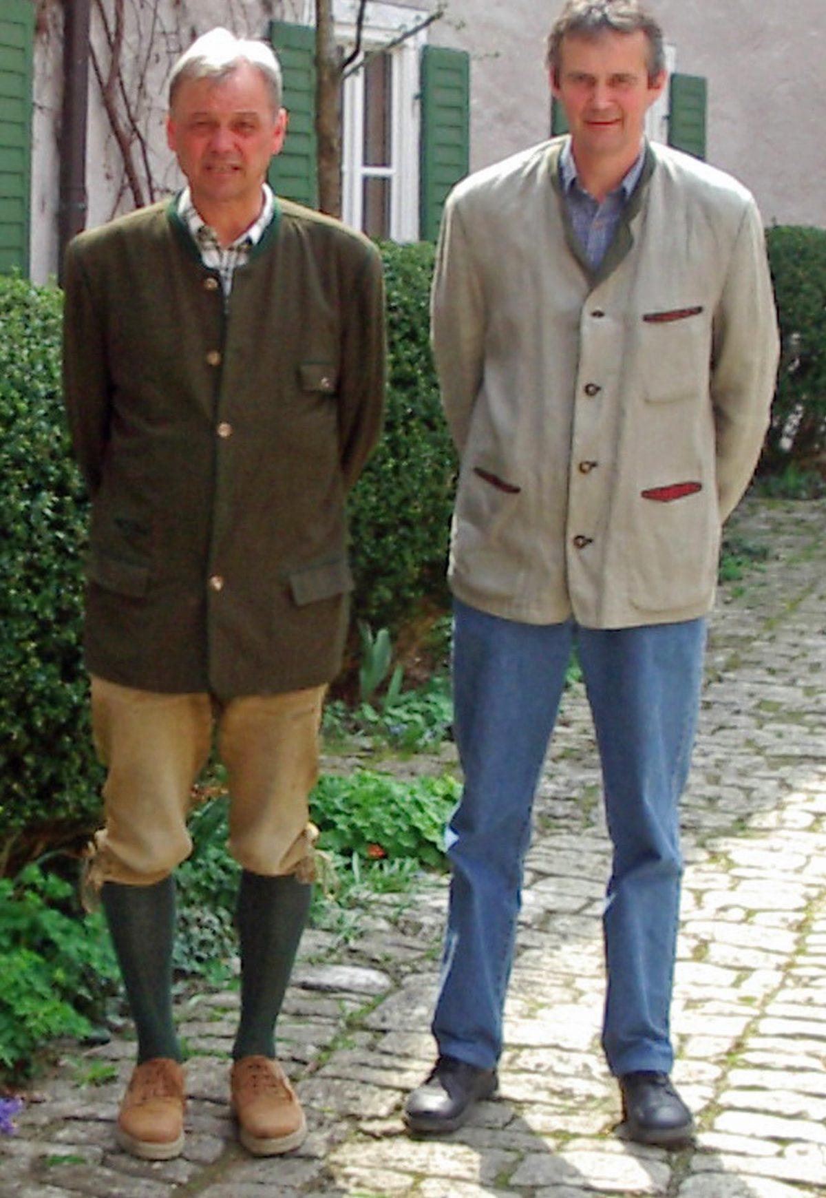 Fritz (l.) und Hans (r.) Gutmann