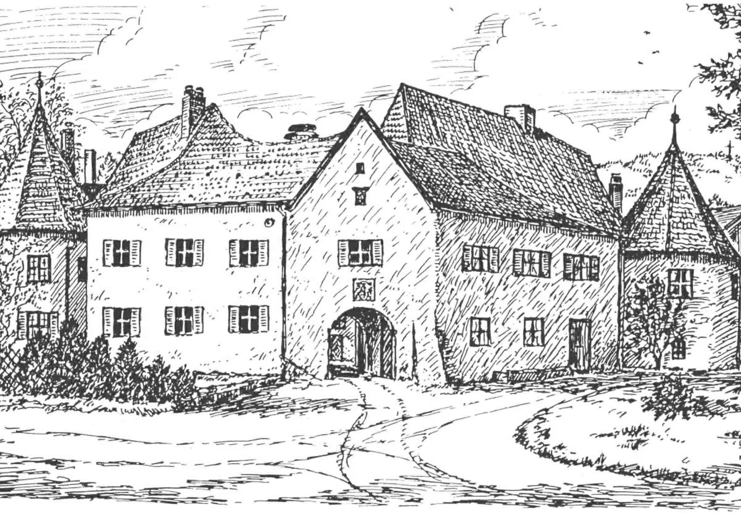 Brauereischloss Zeichnung